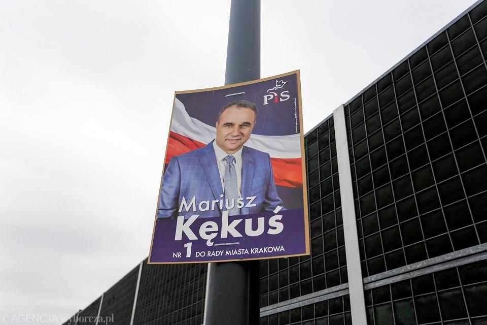 Wybory Samorządowe 2018 Kraków Zasypany Plakatami Kandydatów