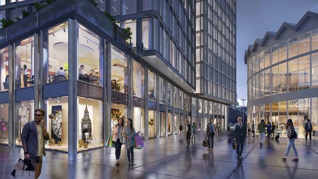 Parter, pierwsze piętro i pierwsza podziemna kondygnacja wieżowca Widok Towers powstającego za Rotundą będzie przeznaczony na handel i usługi