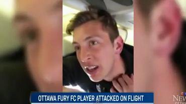 22-letni Olivier Minatel został napadnięty w samolocie