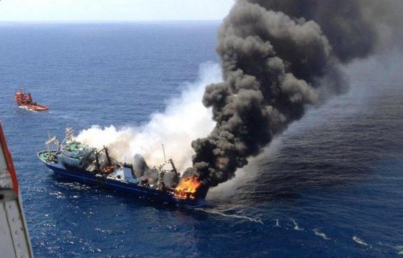 Rosyjski statek Oleg Najdienow zatonął kilkanaście mil od Gran Canarii