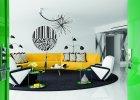Czarno-białe mieszkanie z akcentami koloru