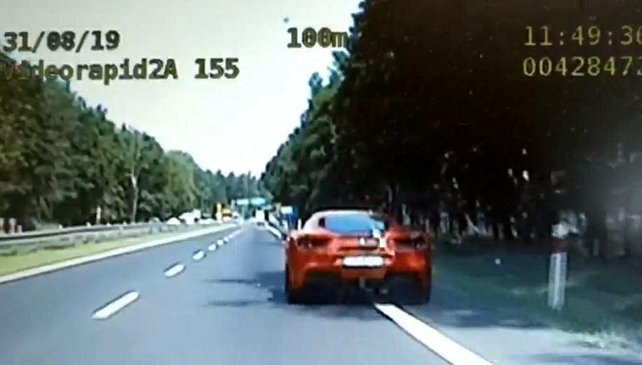 Katowice. Ferrari jechało z prędkością 177/h