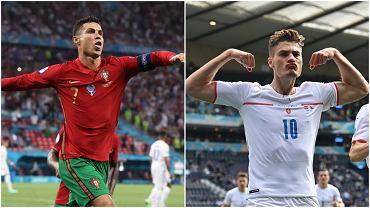 Cristiano Ronaldo i Patrik Schick