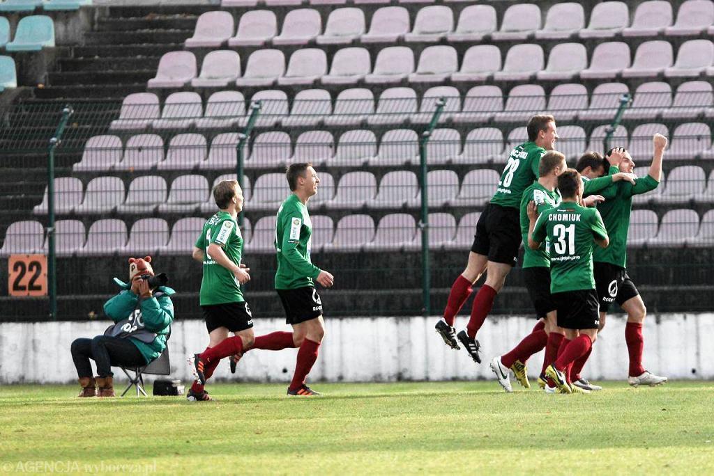 Piłkarze GKS-u Tychy wreszcie mają powody do radości