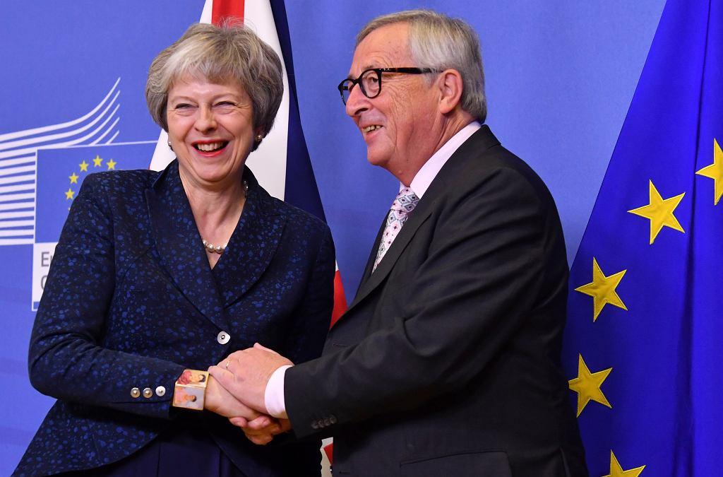 Brexit. Theresa May i Jean-Claude Juncker
