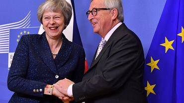 Brexit. Theresa May i  Jean-Claude Juncker