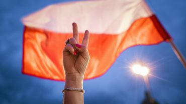 Szósty dzień protestu w obronie niezależności polskiego sądownictwa w Lublinie.