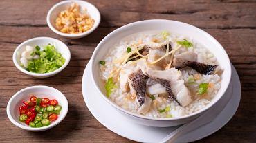 Zupa ryżowa z rybą