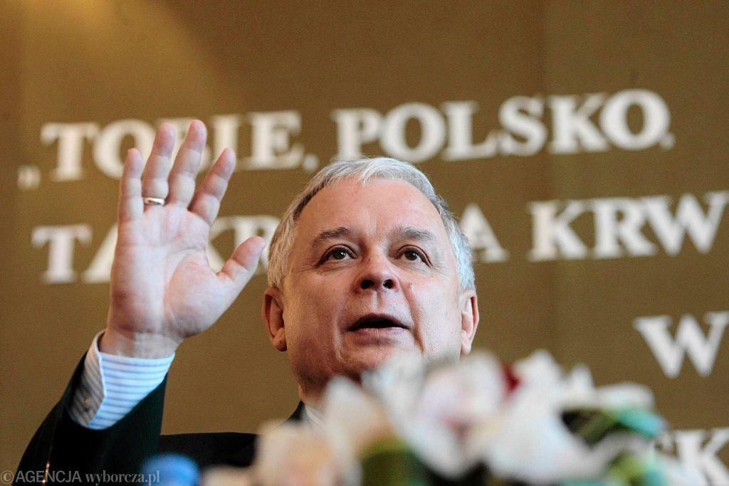 Spotkanie z prezydentem Lechem Kaczyńskim w liceum ogólnokształcącym w Krotoszynie.