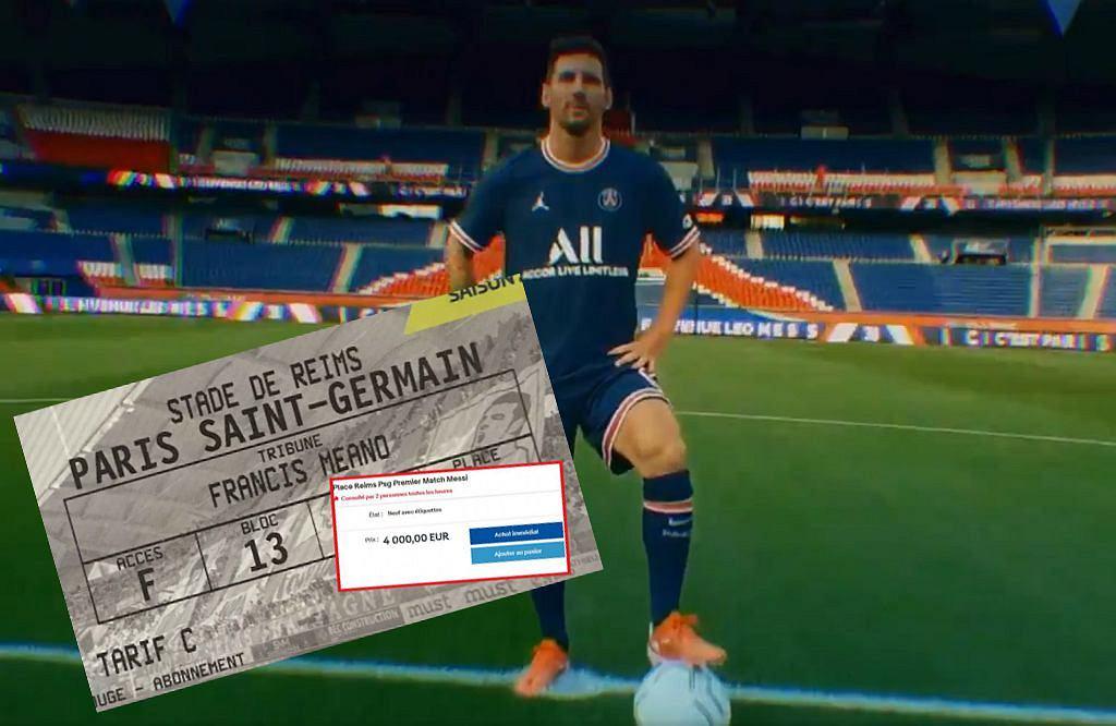 Lionel Messi i bilet na mecz Reims - PSG