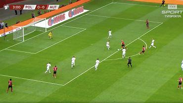 Murawa PGE Narodowego podczas meczu Polska-Austria
