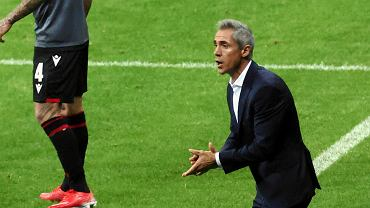 Paulo Sousa podczas meczu Polska - Albania