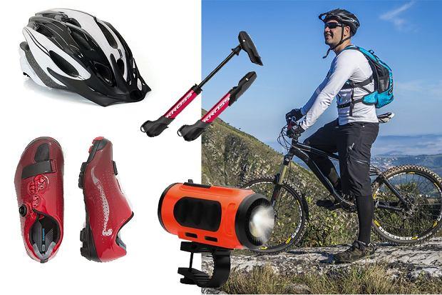Akcesoria rowerowe i odzież sportowa z wyprzedaży