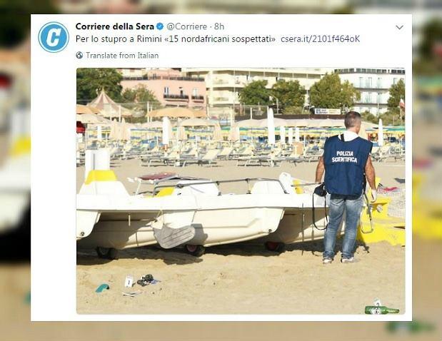 Włoscy śledczy dotarli do dwóch świadków napaści na polskich turystów w Rimini.