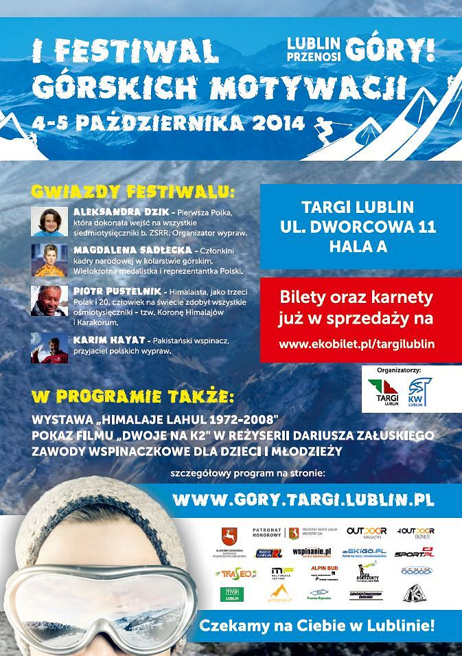 I Festiwal Górskich Motywacji w Lublinie