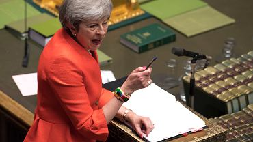 27.02.2019, Londyn, premier Wielkiej Brytanii Theresa May w Parlamencie.