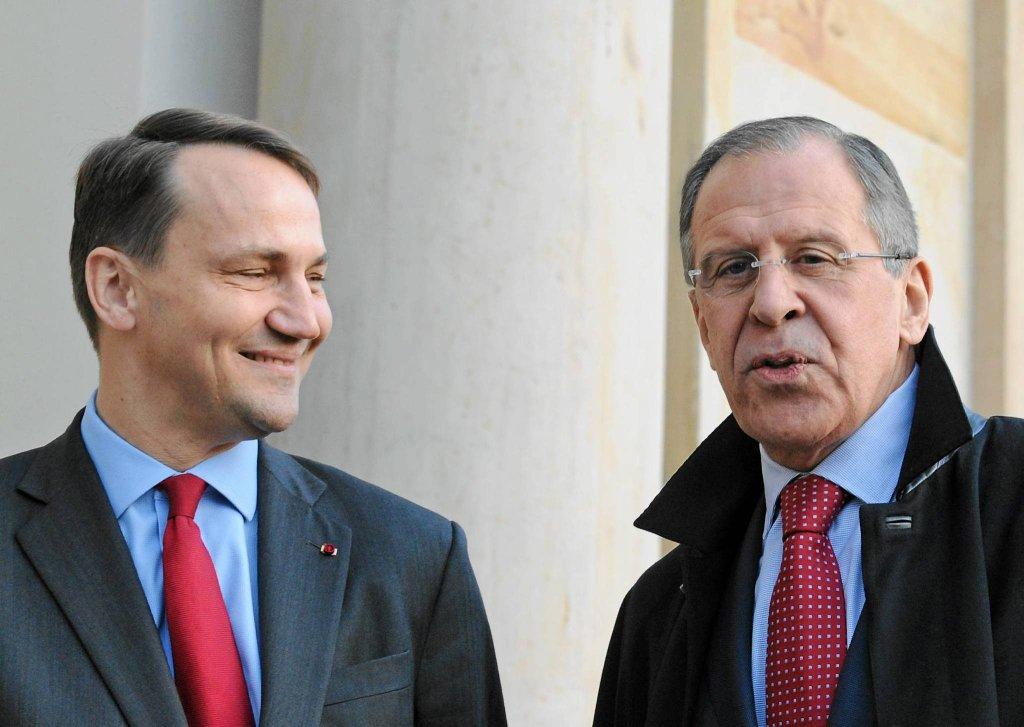 Radosław Sikorski i Siergiej Ławrow