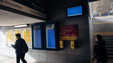 Stacja kolejowa Gdańsk Wrzeszcz. Zamontowane jesienią 2017 roku ekrany nie działają