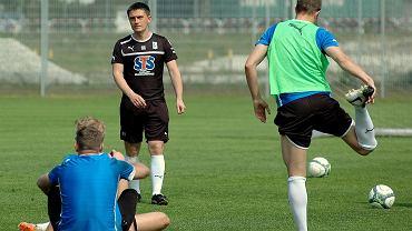 Trening Lecha Poznań. Trener Mariusz Rumak