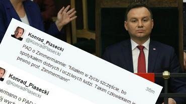 Konrad Piasecki przypomniał słowa Andrzeja Dudy z czasu kampanii prezydenckiej