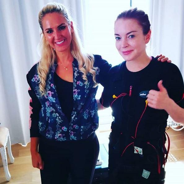 Lindsay Lohan rozpoczęła treningi EMS
