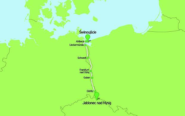 Na granicy Czech, Polski i Niemiec, rowery, szlaki rowerowe