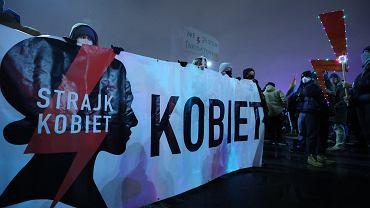 28.01.2021 r. Protest Ogólnopolskiego Strajku Kobiet w Warszawie.
