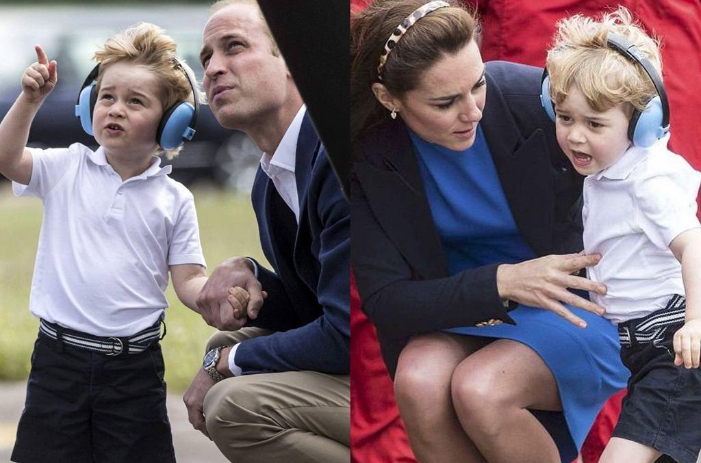 Książę William, książę George i księżna Kate
