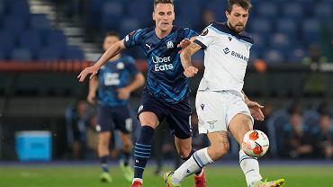Arkadiusz Milik (Olympique Marsylia) w meczu z Lazio Rzym w ramach Ligi Europy