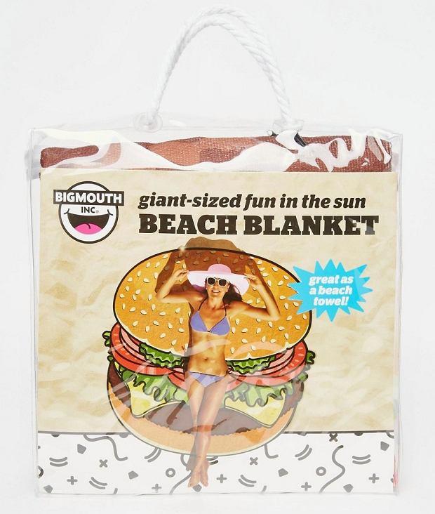 Koc plażowy w kształcie cheeseburgera