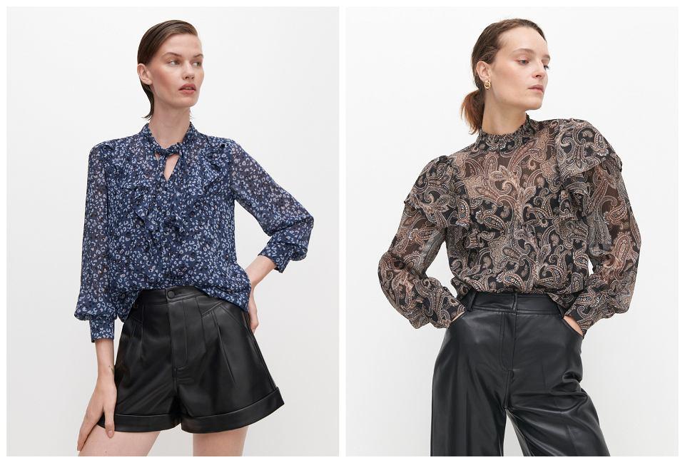 bluzki z falbankami