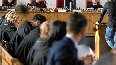 Proces gangu Psycho Fans w Sądzie Okręgowym w Katowicach.
