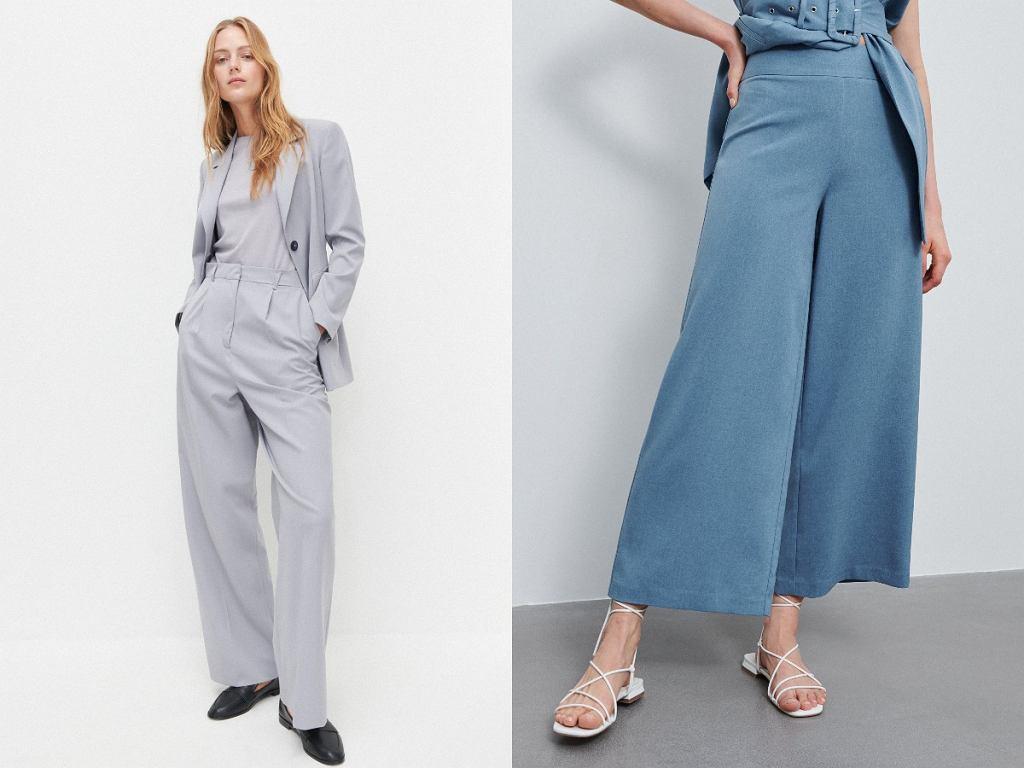 Eleganckie spodnie z szerokimi nogawkami