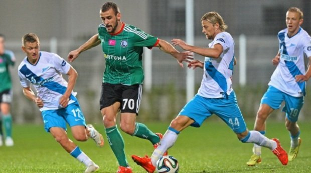 Orlando Sa w meczu z Zenitem Sankt Petersburg