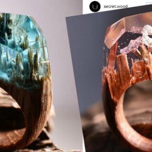 Niesamowite pierścionki z drewna