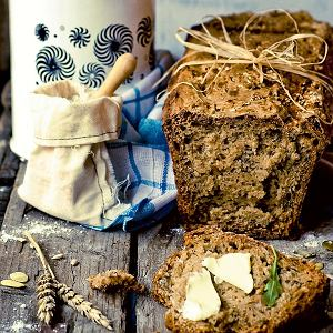 Chleb z mieszanej maki na zakwasie
