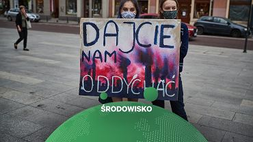 Protest aktywistów klimatycznych