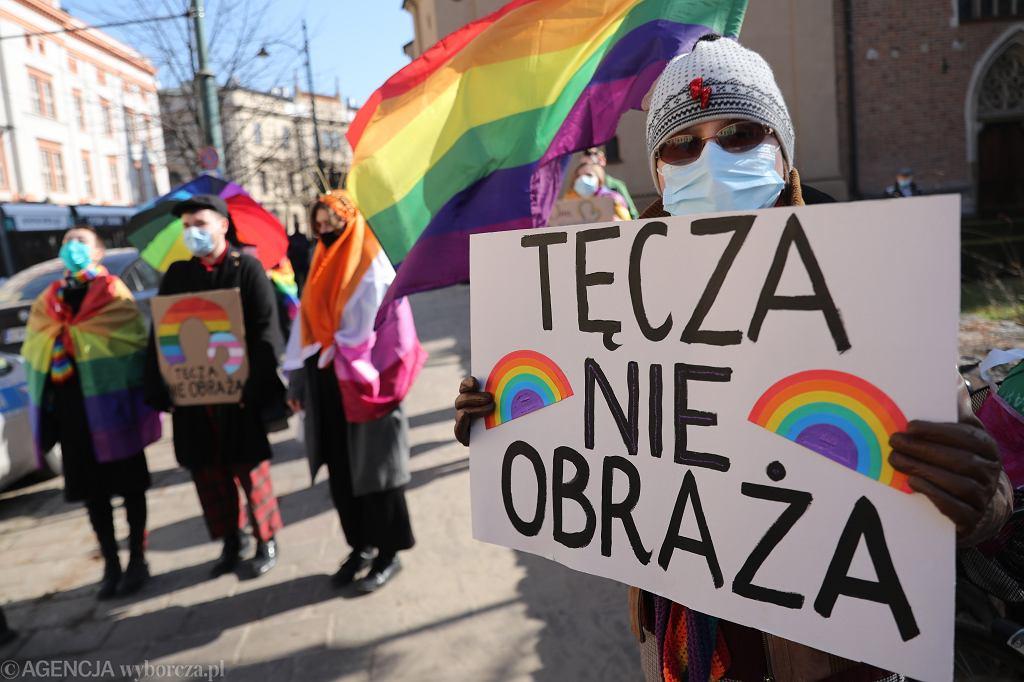 Manifestacja solidarnościowa w Krakowie