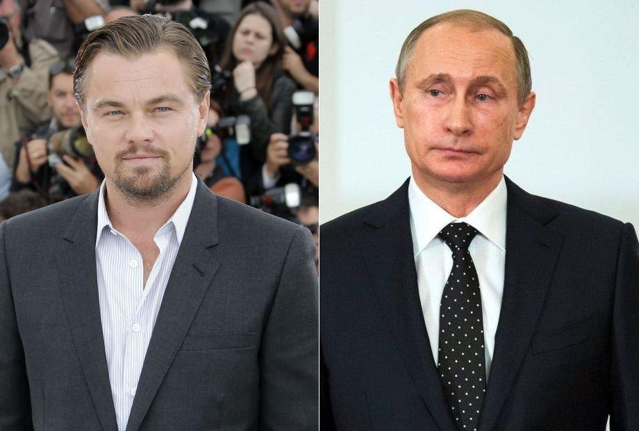 Leonardo DiCaprio i Władimir Putin