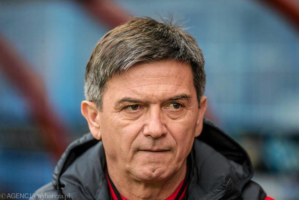 Waldemar Fornalik podczas meczu z Jagiellonią