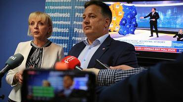 Wybory do europarlamentu 2019 - wyniki. PiS mocny jak nigdy. Radom. Wieczór wyborczy w siedzibie PiS