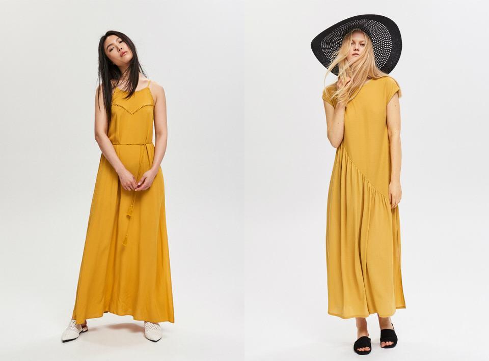 Żółta sukienka maxi