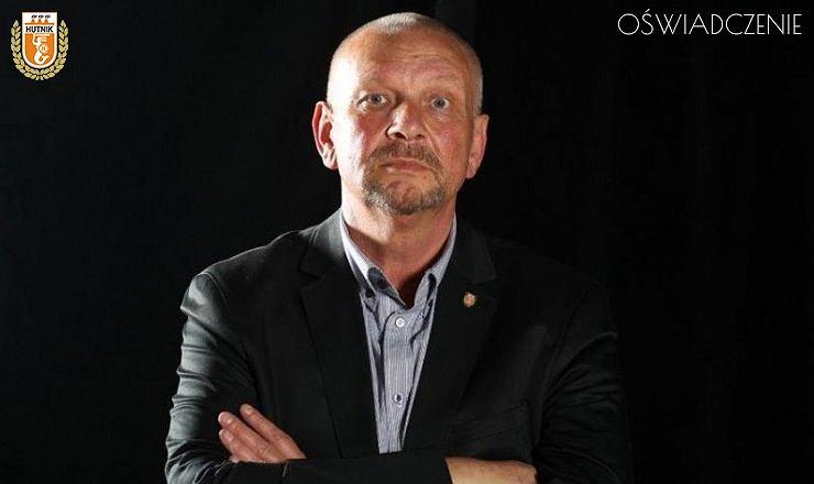 Prezes Hutnika Warszawa Maciej Purchała