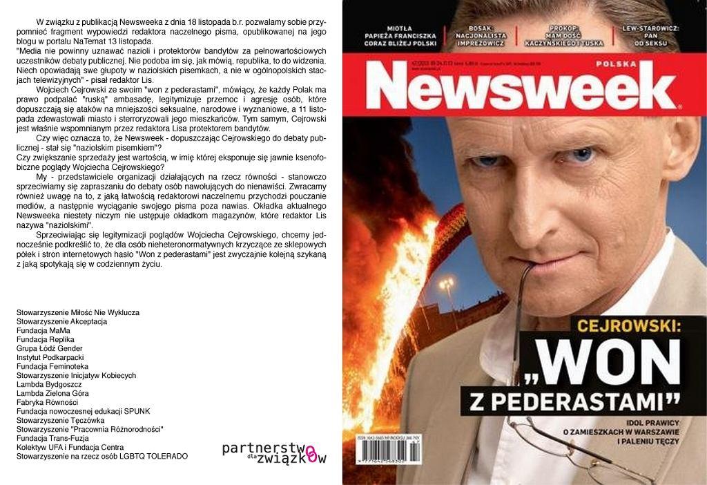 Oświadczenie PDZ / Newsweek