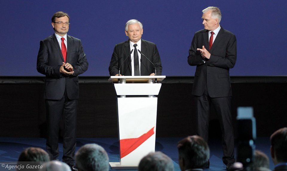 J. Kaczyński J. Gowin Z. Ziobro - Zjednoczona Prawica