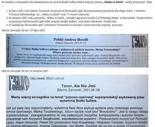 Oświadczenie menadżerki Marka Torzewskiego