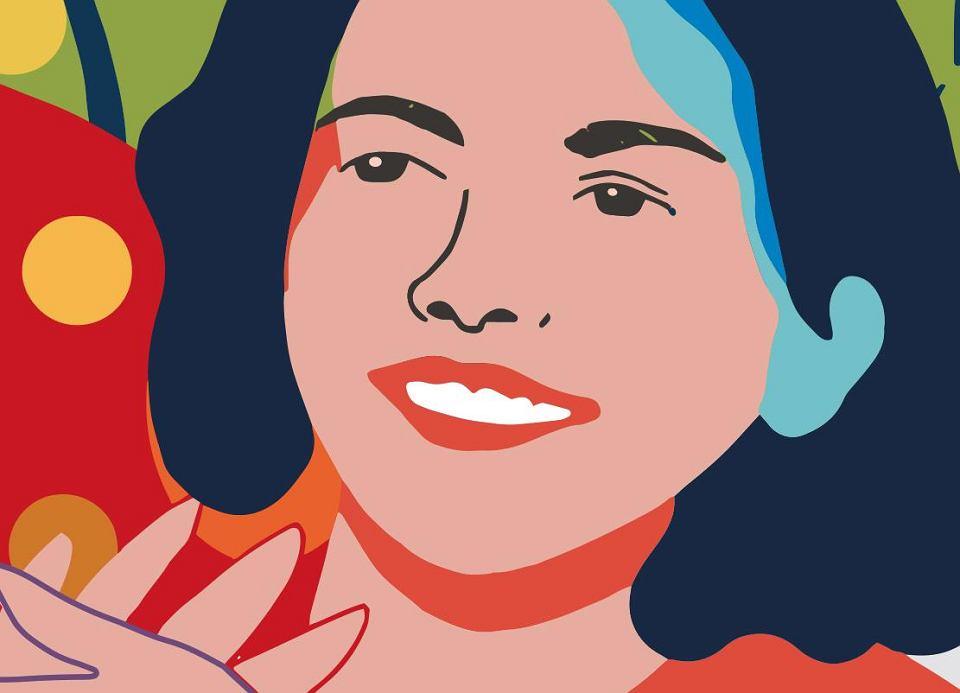 Ewa Ossowska, fragment muralu 'Kobiety Wolności'