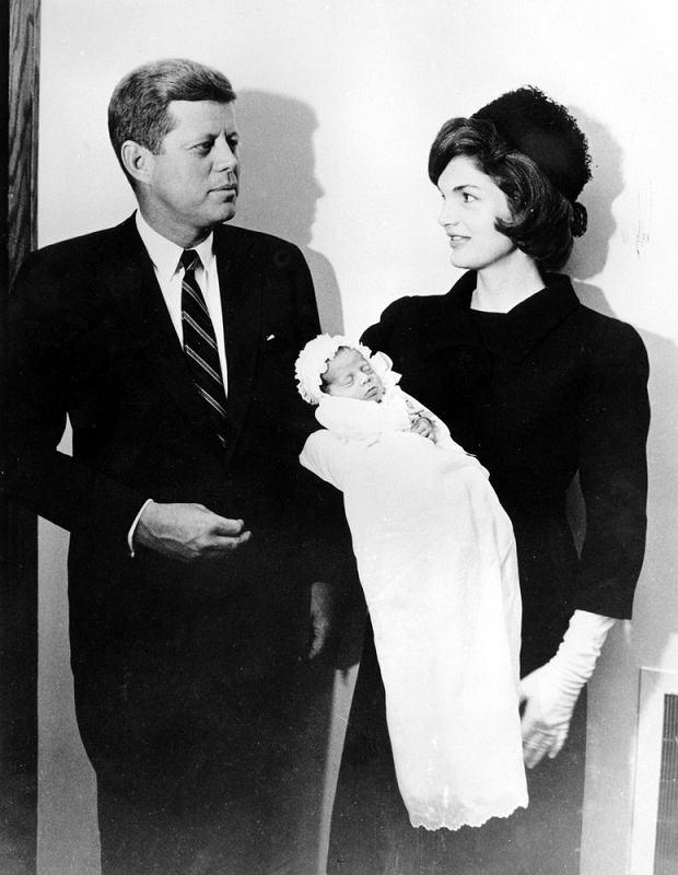 John F. Kennedy, Jacqueline Kennedy i syn, John F. Kennedy, 1960