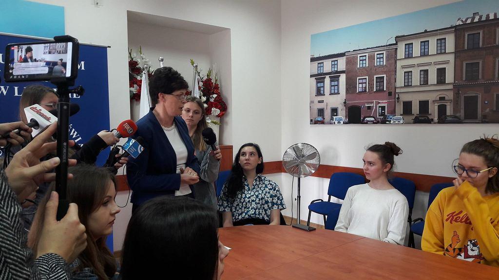 Uczniowie protestowali w kuratorium oświaty, fot. Anna Gmiterek-Zabłocka TOK FM