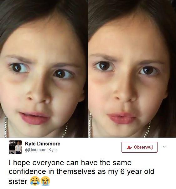 6-letniej Khloe pewności i wiary w siebie zazdrości wielu dorosłych